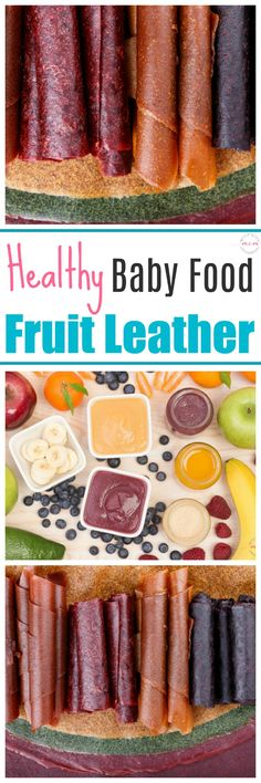 Uses for leftover baby food! Super easy and healthy toddler snack idea! Healthy Toddler Snacks, Healthy Baby Food, Baby Snacks, Toddler Meals, Food Baby, Baby Food Recipes, Kids Meals, Toddler Food, Homemade Fruit Leather