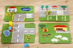Spielteppiche sind in jedem Kinderzimmer heiß begehrt. Darum: Strickfilzen Sie die Spielteppiche doch einfach selbst. Wir zeigen Ihnen, wie's geht – kinderleicht. © Christophorus Verlag