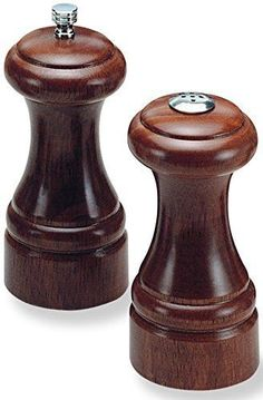 "Olde Thompson 5.25"" Statesman Wood Pepper Mill and Salt Shaker Set"