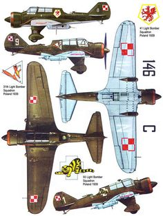 PZL Karas from and Light Bomber Squadrons in Poland, September that the underwing letter code could be white or blacksource.