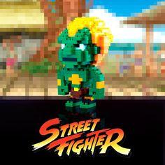 Puzzle 3D Street Fighter Blanka 8 bits
