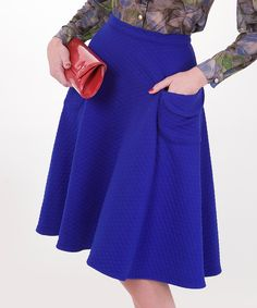 Look at this #zulilyfind! Tatyana Blue Snuggle Skirt - Women & Plus by Tatyana #zulilyfinds