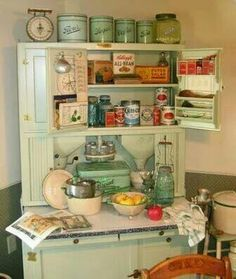 Bread box, Ball jars, nooks and crannies.