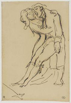 Eugène Delacroix - Femme soutenant un homme blessé