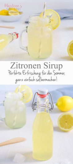 Here you will find a recipe for homemade lemon syrup. A homemade . - Here you will find a recipe for homemade lemon syrup. A homemade lemon lemonade is very tasty, summ - Healthy Juice Recipes, Juicer Recipes, Smoothie Recipes, Easy Lemonade Recipe, Homemade Lemonade Recipes, Budget Freezer Meals, Cooking On A Budget, Mojito, Best Lemonade