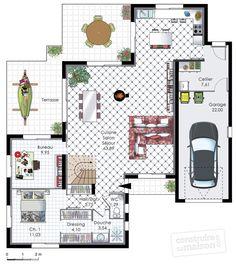 Plan habillé Rdc - maison - Maison performante