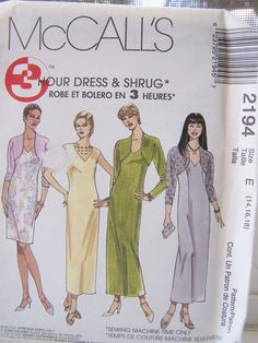 McCall's 2194 Women's Dress Pattern   Dress with by WitsEndDesign