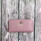 Gucci Pre-owned Women's Genuine Leather Zip Card Case Long Wallet Pink