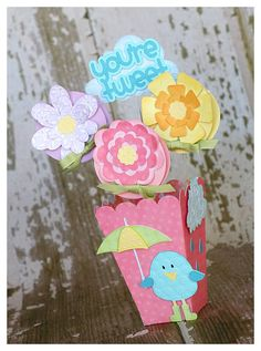 Lollipop bouquet #Cricut