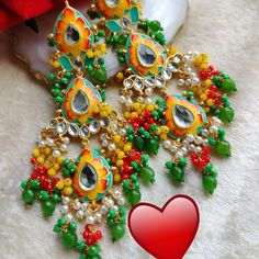 Indian Earrings, Ornament Wreath, Antique Jewelry, Handmade Jewelry, Chokers, Colours, Jewels, Jewellery, Stuff To Buy