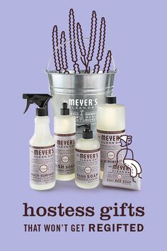 The Mrs. Meyer's Clean Day Lavender Cleaning Gift Bucket is a thoughtful way to introduce Mrs. Meyer's Leaping Bunny certified products to a new home. The set contains our favorite household cleaners in this uplifting floral scent, packed in a Mrs. Meyer's Clean Day Bucket and ready to give! Each set includes Bar Soap, Liquid Dish Soap, Multi-Purpose Everyday Cleaner, Liquid Hand Soap, and Multi-Purpose Concentrate in a functional bucket. Mrs. Meyer's, Rooted in Goodness.