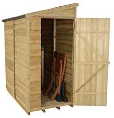 Forest Garden 6x3 Overlap Security Garden Shed - Pressure Treated: Amazon.co.uk: Garden & Outdoors