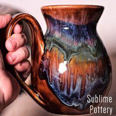 New Earth mug by Amanda Joy Wells of Sublime Pottery Pottery Ideas, Wells, Stoneware, Glaze, Amanda, Pots, Jars, Ceramics, Pottery