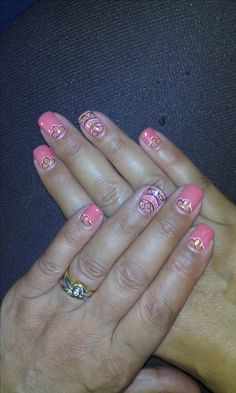 Ricostruzione unghie in gel sfumato viola rosa con decoro in from nail art gallery ricostruzione in gel con decorazione colorata stile mosaico prinsesfo Gallery