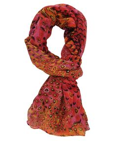 """Vibrant Feather Pattern Scarf, 35""""W x 80""""L, $8.80, www.forever21.com"""