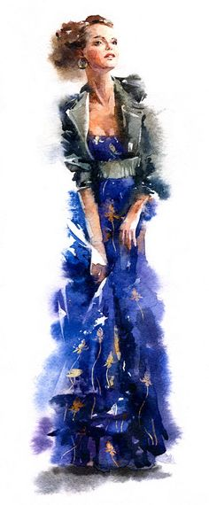 Artist: Alexey Yarmolin {figurative woman fashion illustration watercolor painting}