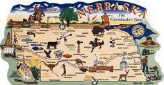 Nebraska State Products Map