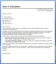 Marketing Communications Manager Cover Letter Sample  Sample Cover Letter For Resume
