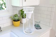 Inspired by the pour-over coffee process, KOR has launched a new in-home water filtration system with water carafes and filters
