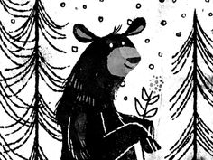 winter bear by Lydia Nichols