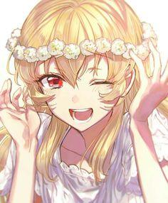 blonde anime character female