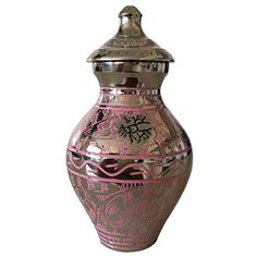 Small Decorative Urns Urnsdirect2U 752510 Pink Camo Adult Cremation Urn *** Check Out