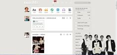 Black and White One Direction (Version 2) - Themes and Skins for Tumblr - userstyles.org
