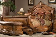 Cortina Sleigh Bed - Reminds me of the pilot's seat in the Alien movies.