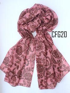 Pashmina Chiffon *Good Quality* IDR 55000 Detail: Chiffon Shawl tepi neci rapi Ukuran 70 x180cm