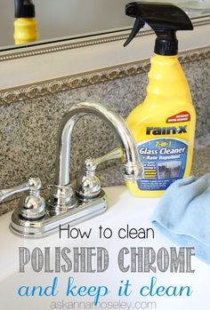 How to Clean Chrome Fixtures and keep them Clean and a Giveaway!