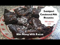 Indulgent Condensed Milk Brownies 155 calories each - YouTube Condensed Milk Desserts, Chocolate Brownies, Youtube, Food, Desserts With Condensed Milk, Chocolate Chip Brownies, Choclate Brownies, Essen, Meals