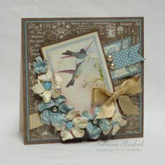 Brown+&+Blue+Botanical+Tea - Scrapbook.com