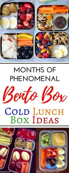 Creative Cold School Lunch Box Ideas For Picky Eaters.Over 100 easy recipes and school lunch ideas for kids and for teens! These cold no sandwich bento box recipes are perfect for picky eaters. With all these ideas# Box Cold School Lunches, Kids Lunch For School, Make Ahead Lunches, Prepped Lunches, Bento Box Lunch For Adults, Lunch Ideas For Teens, Cold Lunch Ideas For Work, School Snacks, Kids Bento Box