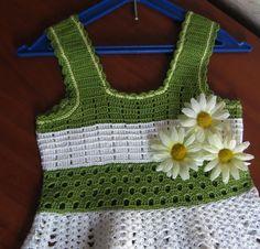 Crochet Knitting Handicraft: Crochet dress for girl