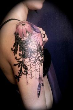 Pretty lace tattoo