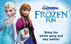 Here's your chance to experience Frozen Fun, live in Disneyland California Adventure Park! For a limited time, a 2-night/3-day Good Neighbor Resort Vacation package starts at $99 per person, per day for a family of 4. Contact Pirate n' Princess Vacations for a free no obligation quote http://www.piratenprincessvacations.com/request-a-quote.html