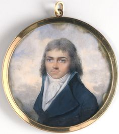 Portrait of Jean Baptiste Jacques Augustin - Jean Baptiste Isabey, French, 1767 - 1855 -  Date: c. 1790,  Watercolor on ivory,  Dimensions: 2 5/8 x 2 9/16 inches (6.6 x 6.5 cm)