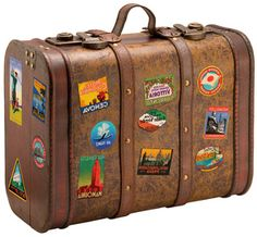 It'd be cool to have a suitcase with random souvenirs from the places you've been, the ones that are important but don't display all the time, and then decorate the outside with stickers/pictures! Like memory luggage to display!