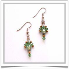 """One-of-a-Kind """"Celene"""" Earrings - Designed by Belle Bijou:  http://www.bellebijoujewelry.com/store/detail/index.html#cid=48448"""