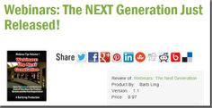 Webinars: The NEXT Generation Just Released!