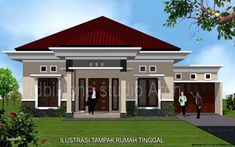 37 Super desain rumah minimalist home house design Modern Bungalow House, Bungalow House Plans, Minimalist House Design, Modern House Design, House Outside Design, Village House Design, House Design Pictures, Model House Plan, Architect Design
