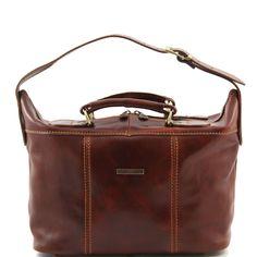 Beauty case in pelle mini borsa da viaggio
