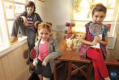 M2A Jeans | Fall Winter 2014 | Kids Collection | Outono Inverno 2014 | Coleção Infantil | calça jeans infantil masculina; look infantil; shorts infantil feminino; vintage; calça jeans infantil feminina; casal de crianças; denim kids; lollipops; pirulitos, candys; doces.