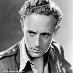 Leslie Howard in Captured! Old Hollywood Movies, Golden Age Of Hollywood, Vintage Hollywood, Hollywood Stars, Classic Hollywood, The Bowery Boys, I Look To You, Leslie Howard, Bogart And Bacall