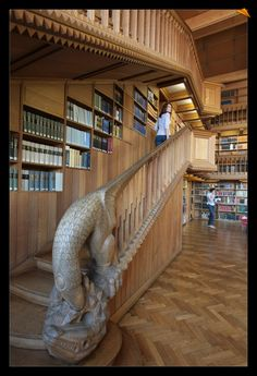 Stairs in the University Library, Leuven, Belgium