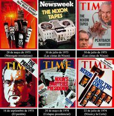En 1972 se reveló que Richard Nixon tenía un sistema de grabación de cintas magnetofónicas en sus oficinas con lo que  grabó conversaciones dentro de la Casa Blanca. El escándalo político de EE.UU. entre los años 1972-1974, terminó en la dimisión de Nixon.   http://www.elmundo.es/elmundo/2005/06/01/internacional/1117593594.html
