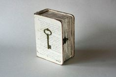 Beige Decorative Book Box with Skeleton Key by MyHouseOfDreams,