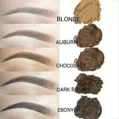 Proper color shading of Eyebrows