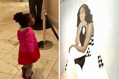 People Are Crying Over This Photo Of A Little Girl Staring At Michelle Obama's Portrait