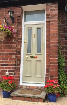 Grand Victorian front door with Canterbury glass in Chorlton ...